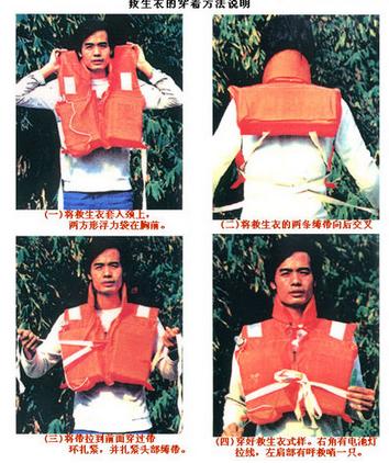 根据工作原理,可分为普通救生衣和充气式救生衣;充气