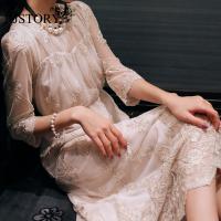 蕾丝连衣裙韩国SZ长裙女装夏装 RJ1410167013